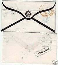 1854/5 canonbie incorniciato backstamps locale in Blu & Nero