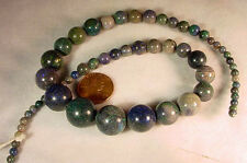 BUTW  Naturally Stunning Strung Andamooka Opal Graduated Beads 4-12 Mm 7791A dl