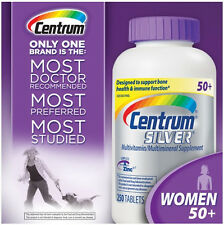 Centrum Silver Women 50+ 250 Tablets. Multivitamin Multimineral. Exp 11/ 2018