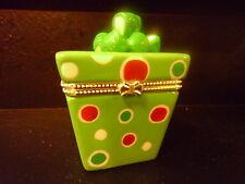 Hinged Trinket Box Locket (Christmas Gift)  Porcelain