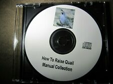 How To Raise Quail Hatching Eggs feeding Plans Books & Manuals 105 plans on Cd