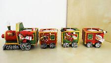 Teelichthalter Weihnachtszug Zug / Lok mit Wagon Xmas Weihnachten Deko Advent