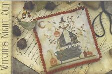 WITCHES NIGHT OUT CROSS STITCH SAMPLER WITH THY NEEDLE & THREAD, BRENDA GERVAIS