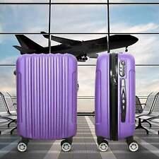 Hard Case Travel Hand Luggage Purple ryanair easyjet flights 55x35x20cm