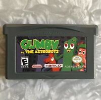 Gumby & The Astrobots Nintendo Gameboy Advance Cleaned & TESTED Authentic GBA