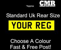 Stick on rear number plate Decal Vinyl Caravan Motorhome Trailer Standard Size