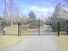 Custom Built Driveway Gate 12ft Wide Single Swing Driveway Gate, Steel, Iron