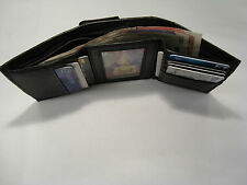 Real Leather Trifold Wallet With Coin Pocket, Back Zip, Business Card Space