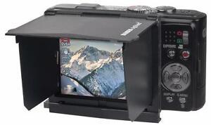 "KAISER 6055 BLACK DIGI SHIELD 3.0 3"" 7.6CM LCD SUN SHADE FOR COMPACT CAMERAS"
