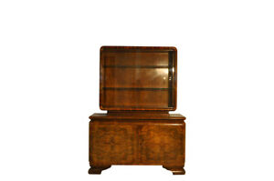 Art Deco Commode with Showcase Top
