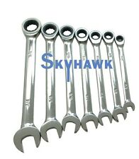 "7 Pc. Combination Ratcheting Wrench Set SAE  5/16"" TO 3/4"""