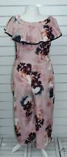 Select size 18 pink floral Jump suit BNWT  #392