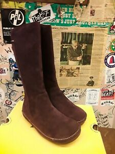 DR MARTENS 3A75 BURGUNDY SUEDE SIDE ZIP BOOT VARIOUS SIZES
