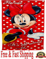 Disney Towel Minnie All About Me Minnie Beach Towel (Florida Namedrop) Original