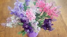 Joblot of 40 Mixed colour silk Artificial Heather Flower bunches wholesale