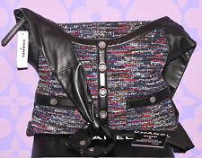 CHANEL $5400 Multi Fantasy Tweed Lambskin Jacket Crossbody/Shoulder *GIRL BAG*!!