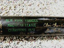 1976 YANKEES World Series Champs Black Baseball Bat, Munson,Hunter,etc-Good/Exc.