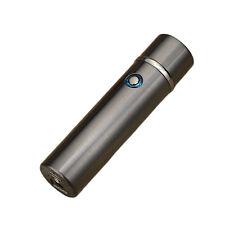 USB Rechargeable Double Spark Cigarette Lighter (Dual Raised Arc) Black Mirror
