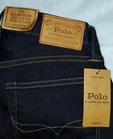 Polo Ralph Lauren Men/'s Big//Tall Hampton Straight Jeans Sz 42X32 Blue NWT$98.50