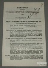 1938 Quebec Baseball Contract Signed by Anthony Errico