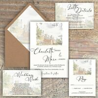 "WEDDING INVITATIONS, Personalised, ""Your venue on the card""  packs of 10"