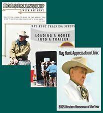 Ray Hunt Horsemanship, Appreciation Clinic & Trailer Loading - 3 DVD - BRAND NEW