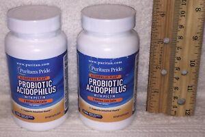 TWO,  Probiotic Acidophilus w/ Pectin (Puritan's Pride)  200 capsules (total)