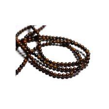 Perles de Pierre - Oeil de Fer Boules 4mm Fil de 39 cm