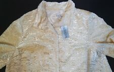 Chico's Jacket Size 3 Supper Club Leama Antique Ivory Cropped Dressy Chicos Tag