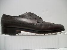Men's Florsheim Dark Brown Peeble Grain Leather Oxfords Wingtip Size 10.5B