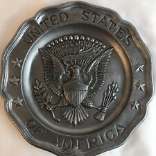 1972 Sexton Pewter Plate Great Seal Of The United States of America Eagle 5011