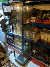 Glass display cabinet with lighting