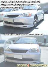 Mu-gen Style Front Lip (Urethane) Fits 01-03 Honda Civic 2/4dr