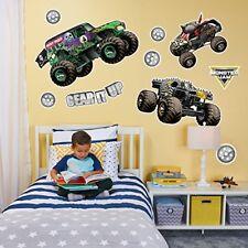 Monster Jam Room Decoration Kit - Vinyl Giant Monster Truck Wall Decals Set