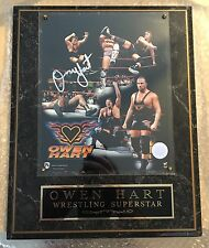 WWF Owen Hart Autograph Plaque - Rare - WWE Superstar - Hart Foundation