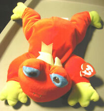 1998 Ty Pillow Pal With Hang Tag Red Ribbit Frog