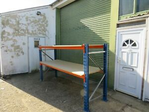 """SINGLE BAY QUALITY H/DUTY STORES CONTAINER RACKING WITH 1""""CHIPBOARD SHELVES"""