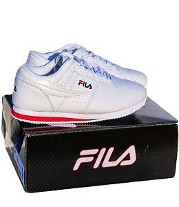 New FILA Machu Womens Shoes Red/White/Blu Casual Retro Classic Sneakers  7.5 NIB