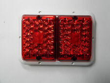 Bargman-Recess-Double-Trailer-RV-Camper-LED-Light 84/85/86 Red/Red White Base
