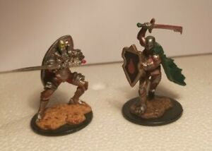 2 Warforged Fighter Painted Miniatures for D&D or Pathfinder Fantasy RPG