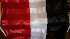 Joblot 24 pcs Faux foulard de soie foulards rouge noir blanc gros 100x100 cm lot L
