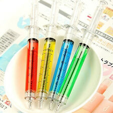Syringe Injection Shape Ballpen 4Pcs Doctor Nurse Gift Liquid Pen Ballpoint
