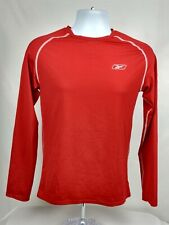 Reebok Men's Long Sleeve Athletic Shirt size Large Red polyester, spandex