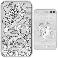2018 Silver Dollar Dragon 1 oz Perth Mint Australia Art Bar Coin first release