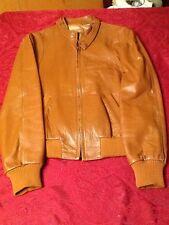 Vtg  CALIFORNIAN soft Leather Jacket Coat Bomber Sz 40