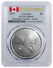 2017 Canada $5 1 oz. Silver Predator Series - Lynx PCGS MS69 FS (Flag) SKU45430
