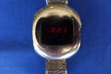 Vintage 1970's NOVUS Digital Red LED Watch - New Batteries - Works! NS WM01