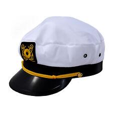 Casquette-Marin Capitaine Marin Uniforme Coton Couleur Blanc Noir WT