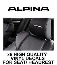 ALPINA/BMW HEADREST CAR SEAT DECALS Vinyl Stickers - Graphics X5