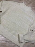 P-56 NSR Womens Pullover Sweater Ivory Marled Long Sleeve Mock Neck Ribbed L
